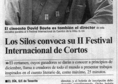 Festival Internacional de Cortos Los Silos - El Día - 2007