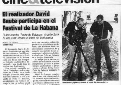 Pedro de Betancur. Arquitectura de una vida - Diario de Avisos - 2002