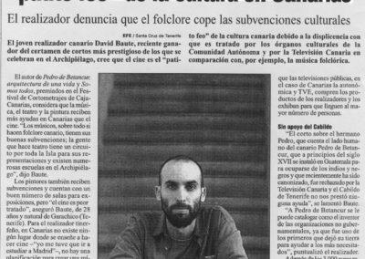 Entrevista - EFE - 2003