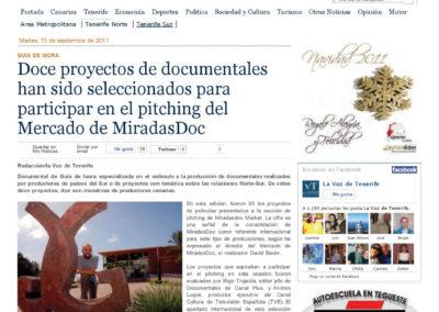 Miradas Doc - La Voz de Tenerife - 2011